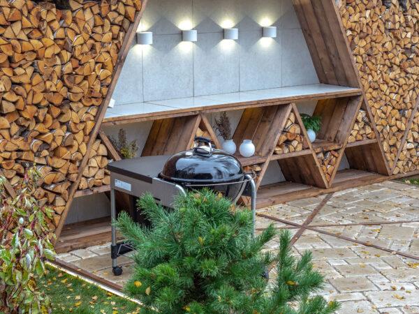 1518 TECHNO LED / Светильник садово-парковый со светодиодами BLADE белый