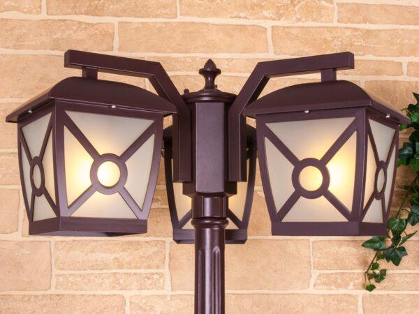 GL 1022F/3 / Светильник садово-парковый Columba F/3 коричневый (GL 1022F/3)