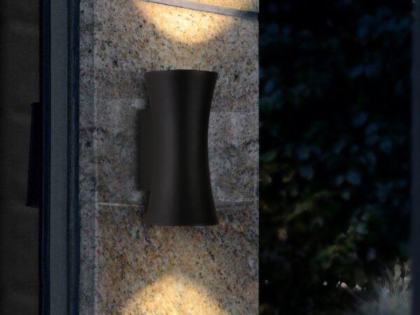 1501 TECHNO LED / Светильник садово-парковый со светодиодами DUAL черный