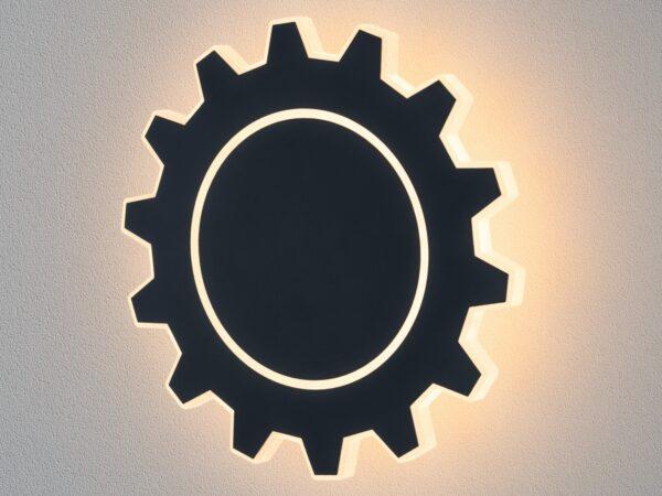 MRL LED 1100 / Светильник настенный светодиодный Gear L LED черный