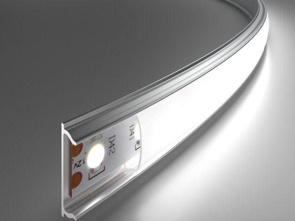 LL-2-ALP012 /  Гибкий алюминиевый профиль для LED ленты (под ленту до 10mm)