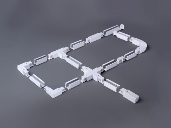 TRC-1-3-FLEX-WH / Соединитель электрический Гибкий коннектор для трехфазного шинопровода (белый) /