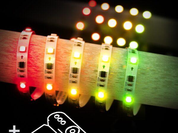 Лента светодиодная Набор светодиодной ленты с контроллером, 5m 7,2W RW IP20 Бегущая волна