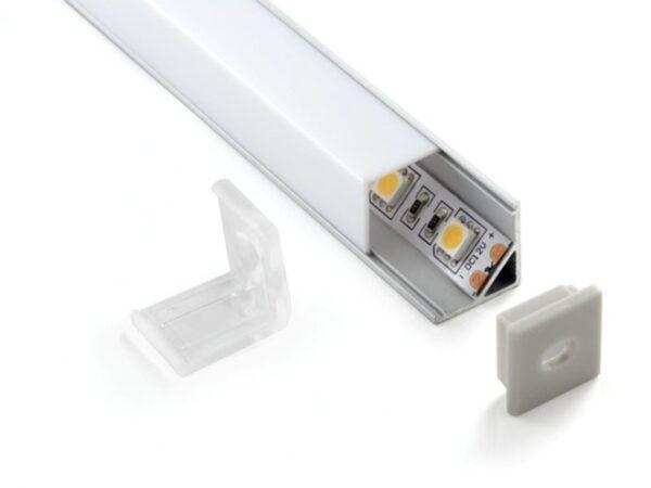 ZLL-2-ALP003 / Лента светодиодная Заглушки для квадратного углового алюм.профиля для LED ленты (16mm) (компл. 10 пар)
