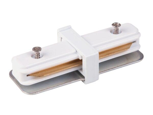 TRC-1-1-I-WH / Соединитель электрический Коннектор прямой для однофазного шинопровода (белый) /
