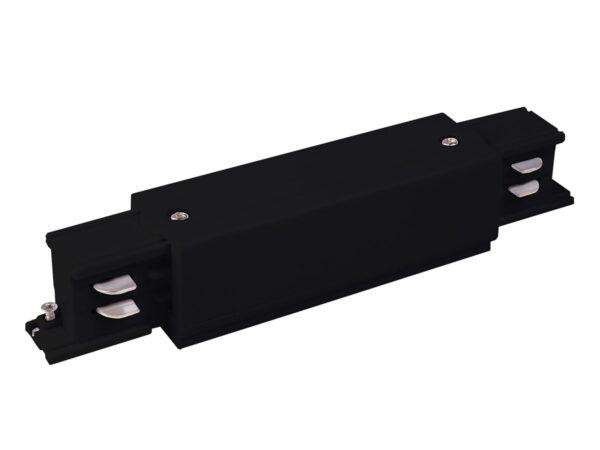 TRC-1-3-I-BK / Соединитель электрический Коннектор прямой для трехфазного шинопровода (черный) /