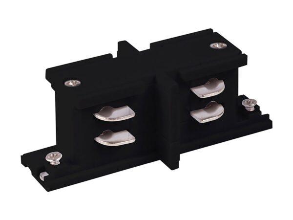 TRC-1-3-II-BK / Соединитель электрический Коннектор прямой внутренний для трехфазного шинопровода (черный) /