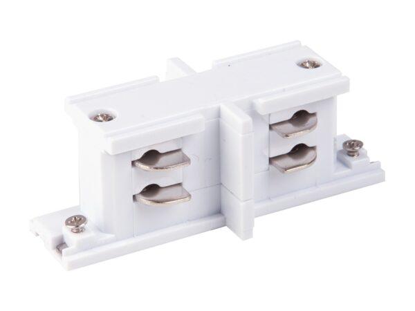 TRC-1-3-II-WH / Соединитель электрический Коннектор прямой внутренний для трехфазного шинопровода (белый) /