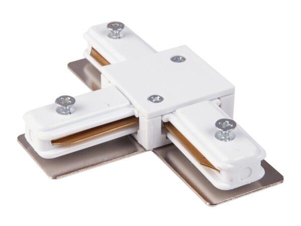 TRC-1-1-T-WH / Соединитель электрический Коннектор Т-образный для однофазного шинопровода (белый) /