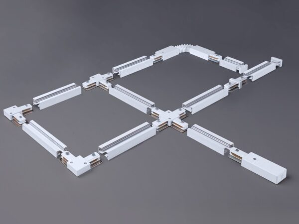 TRC-1-1-L-WH / Соединитель электрический Коннектор угловой для однофазного шинопровода (белый) /
