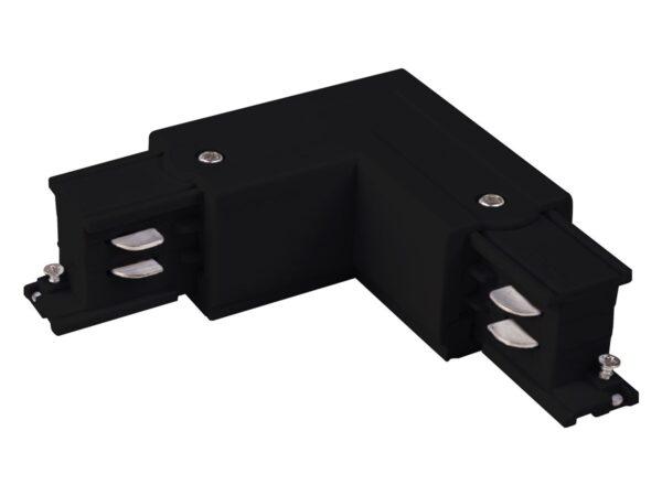 TRC-1-3-L-BK / Соединитель электрический Коннектор угловой для трехфазного шинопровода (черный) /