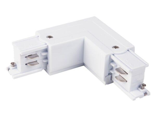 TRC-1-3-L-WH / Соединитель электрический Коннектор угловой для трехфазного шинопровода (белый) /
