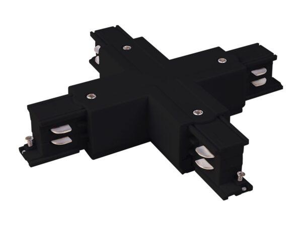 TRC-1-3-X-BK / Соединитель электрический Коннектор X-образный для трехфазного шинопровода (черный) /