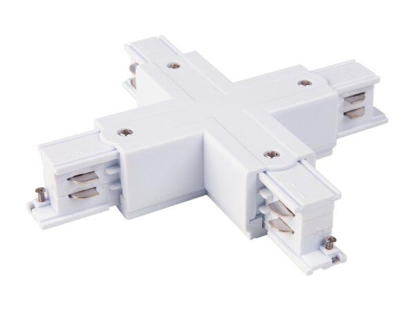 TRC-1-3-X-WH / Соединитель электрический Коннектор X-образный для трехфазного шинопровода (белый) /
