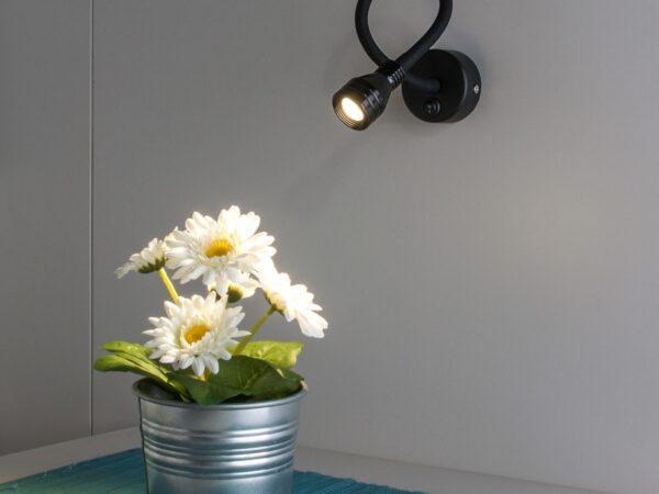 MRL LED 1030 / Светильник настенный светодиодный KORD черный