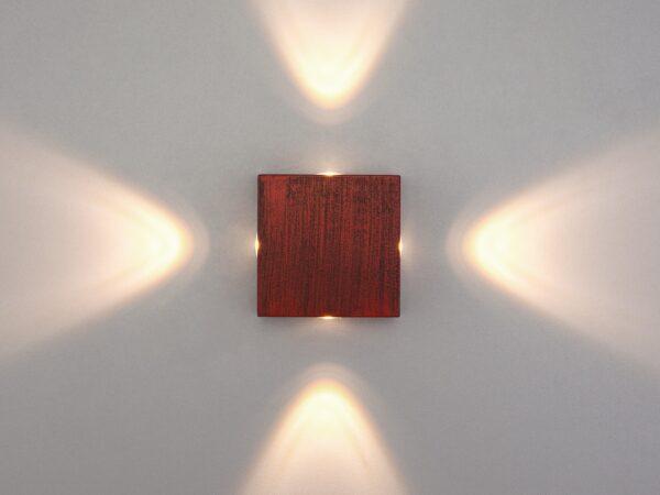 1601 TECHNO LED / Светильник садово-парковый со светодиодами Kvatra красно-черный