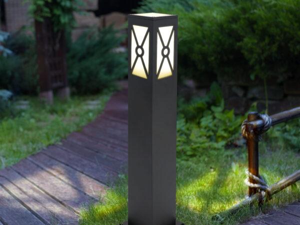 1406 TECHNO / Светильник садово-парковый черный