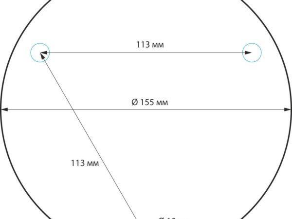 1508 TECHNO / Светильник садово-парковый серый