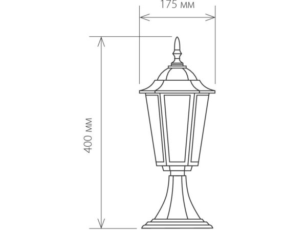 GL 1004S / Светильник садово-парковый 1004S черный