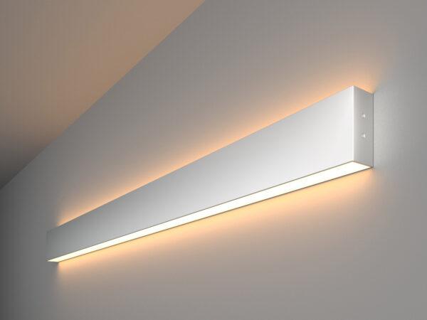 101-100-40-103 / Линейный светодиодный накладной двусторонний светильник 103см 40W 3000K матовое серебро