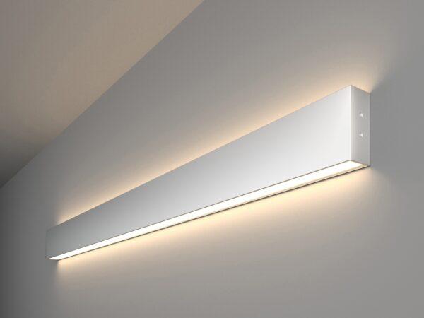 101-100-40-103 / Линейный светодиодный накладной двусторонний светильник 103см 40W 4200K матовое серебро