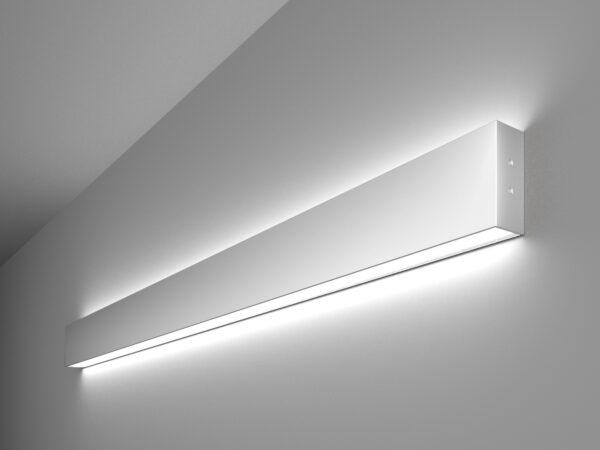 101-100-40-103 / Линейный светодиодный накладной двусторонний светильник 103см 40W 6500K матовое серебро