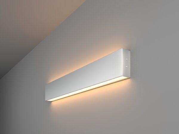 101-100-40-53 / Линейный светодиодный накладной двусторонний светильник 53см 20W 3000K матовое серебро