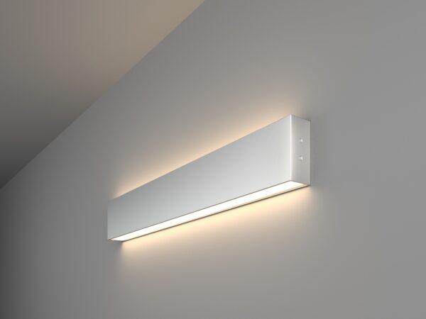 101-100-40-53 / Линейный светодиодный накладной двусторонний светильник 53см 20W 4200K матовое серебро