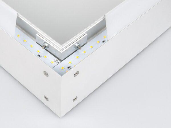 101-100-40-53 / Линейный светодиодный накладной двусторонний светильник 53см 20W 6500K матовое серебро