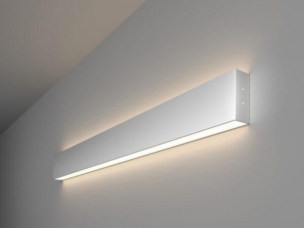 101-100-40-78 / Линейный светодиодный накладной двусторонний светильник 78см 30W 4200K матовое серебро