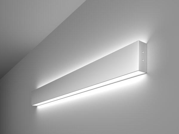 101-100-40-78 / Линейный светодиодный накладной двусторонний светильник 78см 30W 6500K матовое серебро