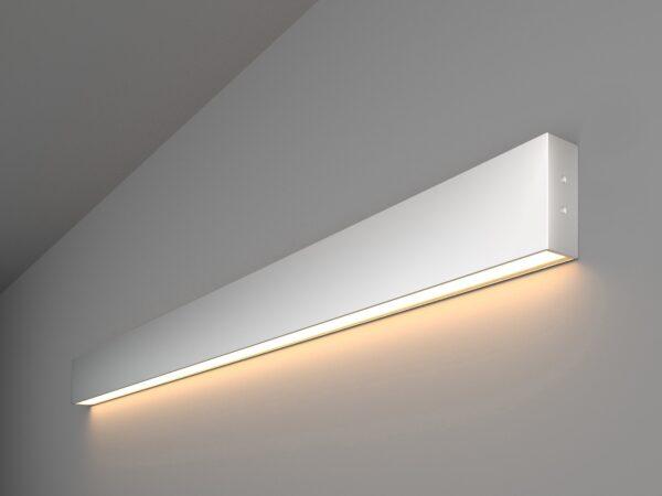 101-100-30-103 / Линейный светодиодный накладной односторонний светильник 103см 20W 3000K матовое серебро