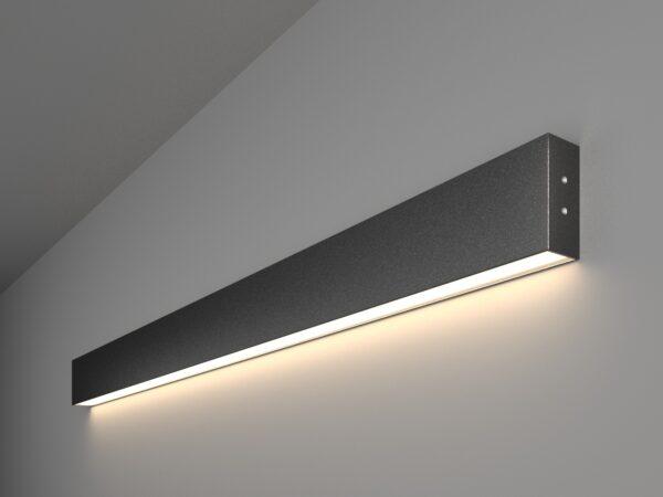101-100-30-103 / Линейный светодиодный накладной односторонний светильник 103см 20W 4200K черная шагрень