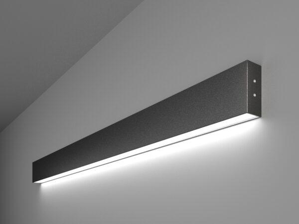 101-100-30-103 / Линейный светодиодный накладной односторонний светильник 103см 20W 6500K черная шагрень