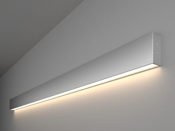 101-100-30-128 / Линейный светодиодный накладной односторонний светильник 128см 25W 4200K матовое серебро