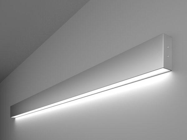 101-100-30-128 / Линейный светодиодный накладной односторонний светильник 128см 25W 6500K матовое серебро
