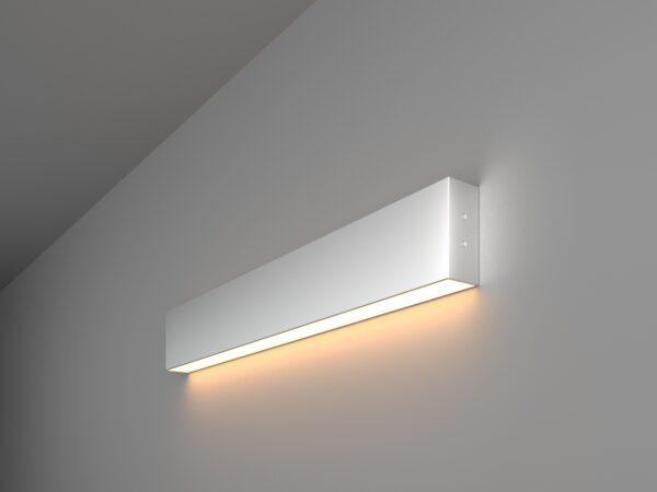 101-100-30-53 / Линейный светодиодный накладной односторонний светильник 53см 10W 3000K матовое серебро