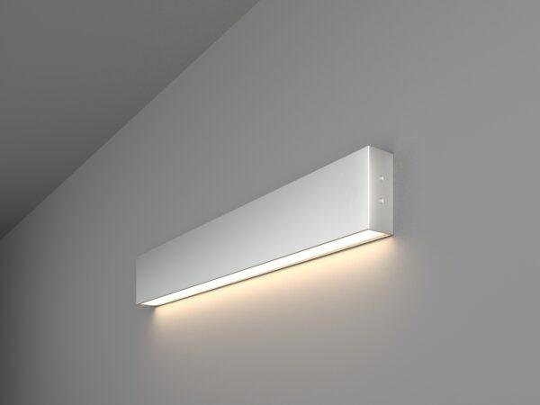101-100-30-53 / Линейный светодиодный накладной односторонний светильник 53см 10W 4200K матовое серебро