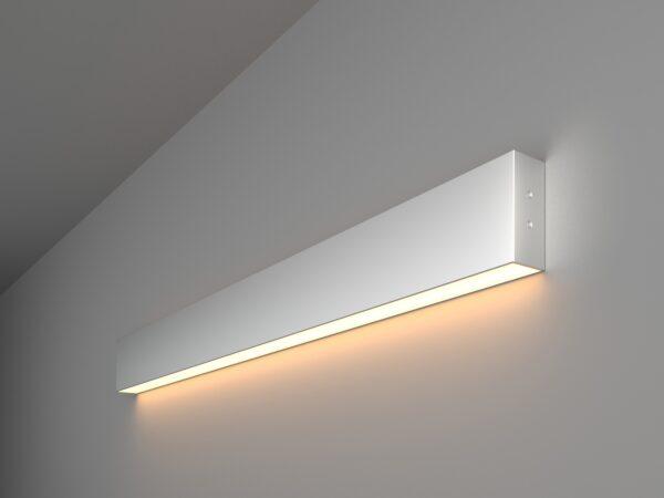 101-100-30-78 / Линейный светодиодный накладной односторонний светильник 78см 15W 3000K матовое серебро
