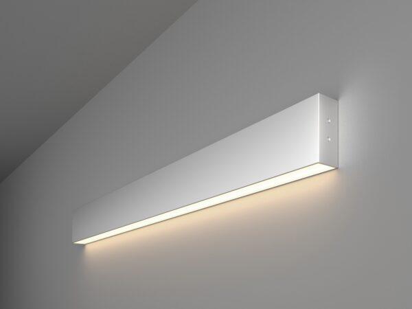 101-100-30-78 / Линейный светодиодный накладной односторонний светильник 78см 15W 4200K матовое серебро