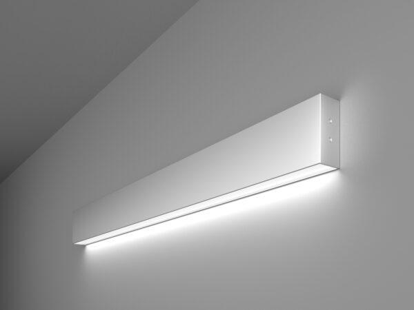 101-100-30-78 / Линейный светодиодный накладной односторонний светильник 78см 15W 6500K матовое серебро