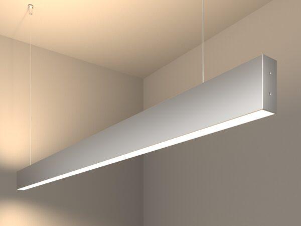 101-200-40-128 / Линейный светодиодный подвесной двусторонний светильник 128см 50W 4200K матовое серебро