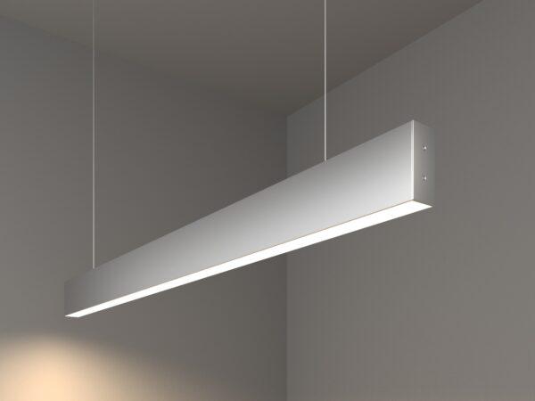 101-200-30-103 / Линейный светодиодный подвесной односторонний светильник 103см 20W 4200K матовое серебро