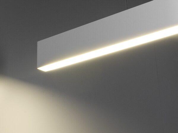 101-200-30-128 / Линейный светодиодный подвесной односторонний светильник 128см 25W 4200K матовое серебро
