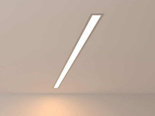 101-300-103 / Линейный светодиодный встраиваемый светильник 103см 20W 3000K матовое серебро