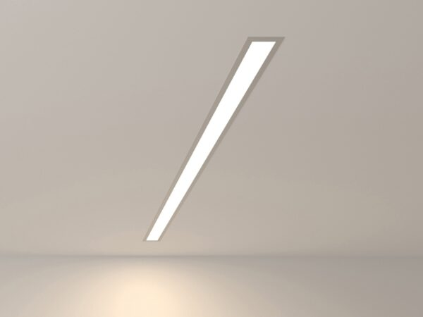 101-300-103 / Линейный светодиодный встраиваемый светильник 103см 20W 4200K матовое серебро
