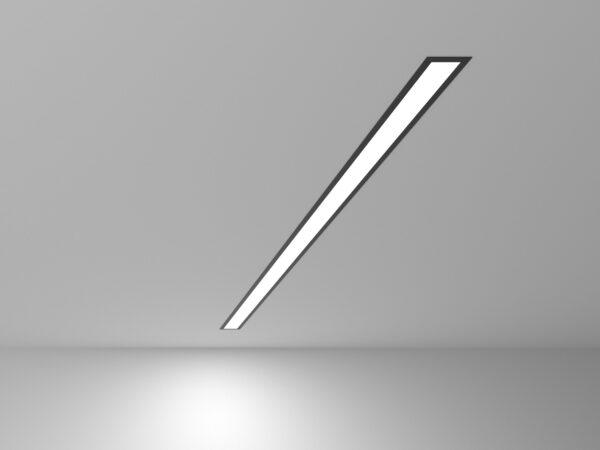100-300-103 / Линейный светодиодный встраиваемый светильник 103см 20W 6500К черный матовый