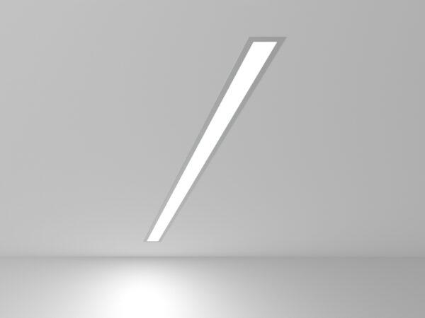101-300-103 / Линейный светодиодный встраиваемый светильник 103см 20W 6500K матовое серебро