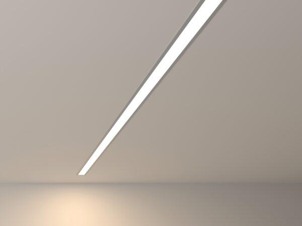 100-300-128 / Линейный светодиодный встраиваемый светильник 128см 25W 4200К матовое серебро