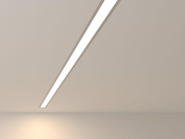 101-300-128 / Линейный светодиодный встраиваемый светильник 128см 25W 4200K матовое серебро